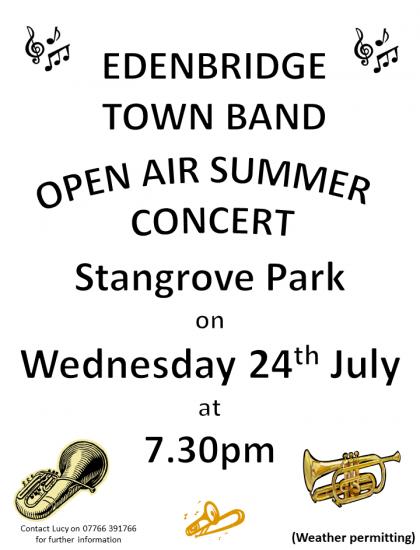 EBTB Open Air Concert Poster - 24.07.19